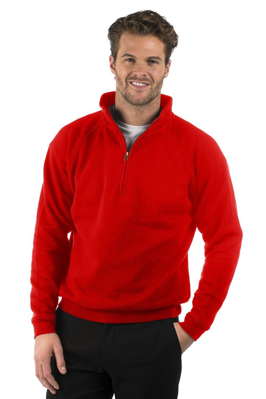 Bruntwood Classic Quarter Zip Sweat Jacket - Mens & Ladies - 280GSM - Cotton/Polyester BQSJ