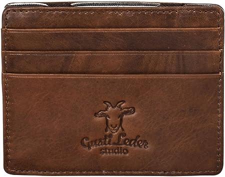 Gusti Leder studio Emanuel Genuine Leather Wallet Card Holder Pouch Everyday Vintage Unisex Accessory Brown 2A124-33-8
