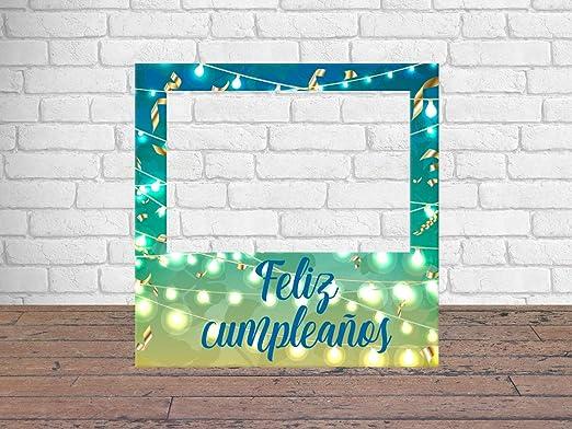 Photocall Feliz Cumpleaños 1x1m | Detalles Cumpleaños | Photocall Económico y Original | Disfruta de Unas Divertidas Fotos con Nuestro photocall de ...