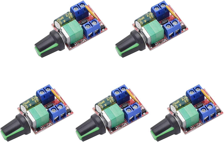 Mini DC Motor PWM Speed Controller 5A 4.5V-35V Speed Control Switch LED Dim gq