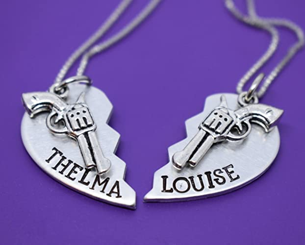Amazon thelma and louise necklace set 2 set thelma and thelma and louise necklace set 2 set thelma and louise jewelry best bookmarktalkfo Images