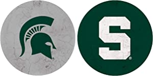 NCAA Legacy Michigan State Spartans Thirsty Car Coaster 2-Pack, One Size, Sandstone