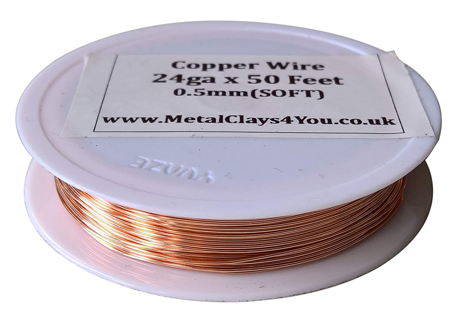 24 AWG 99.9/% Copper - Cu Pure Copper Wire Jewellery Making Craft Wire 0.6mm