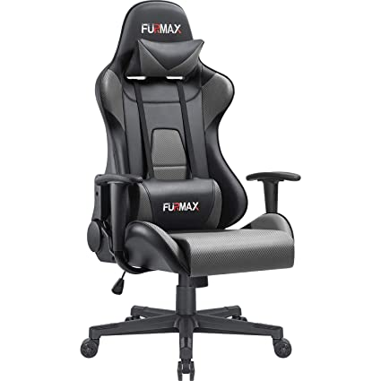 Fantastic Furmax High Back Gaming Office Chair Ergonomic Racing Style Adjustable Height Executive Computer Chair Pu Leather Swivel Desk Chair Black Grey Ncnpc Chair Design For Home Ncnpcorg