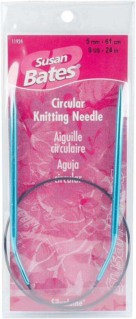 8mm Susan Bates 36-Inch Silvalume Circular Knitting Needle