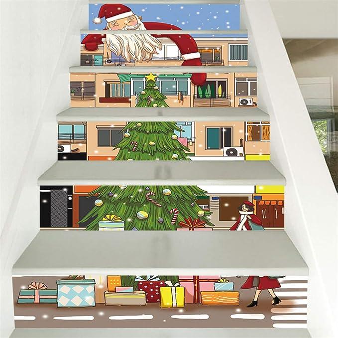 Fantástico mural de la escalera pegatinas decoración del hogar Habitación Sala, regalo ideal para las fiestas de Navidad fiesta de cumpleaños (6 piezas, la Mexicana 100 x 18 cm): Amazon.es: Hogar