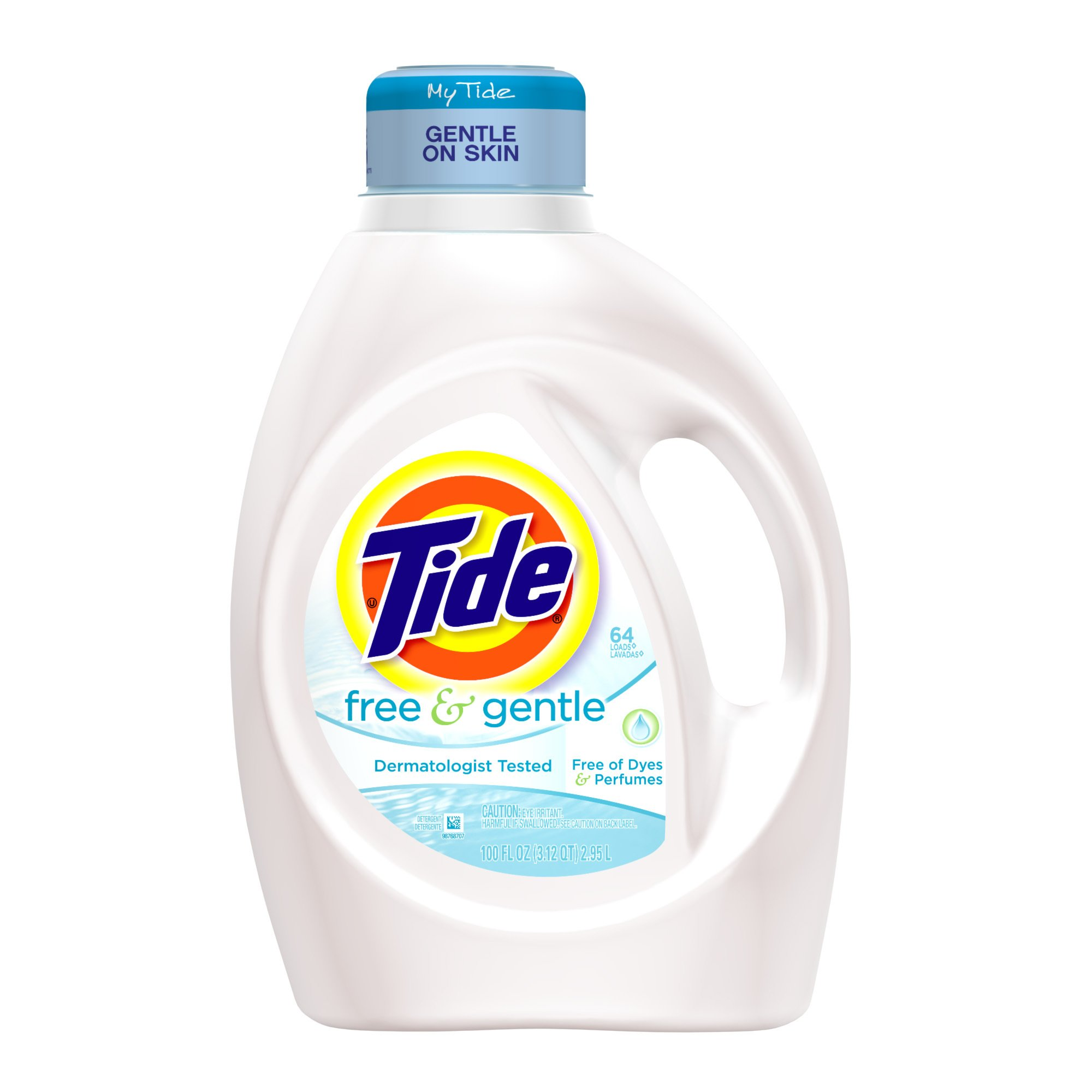 Tide Free And Gentle Liquid Laundry Detergent 64 Loads 100 Fl Oz (Pack of 4)