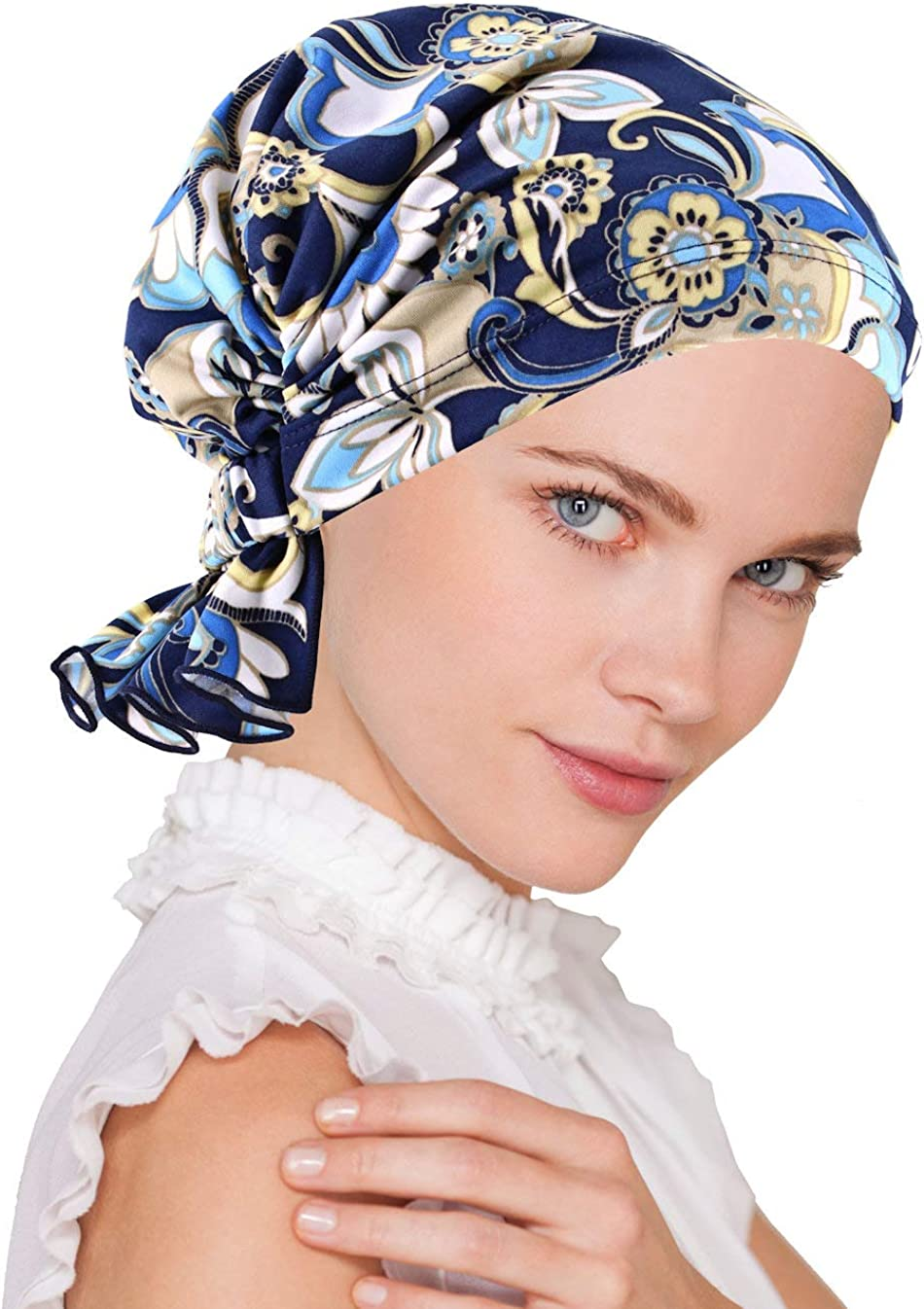 Turban Plus The Abbey Cap in Poly Knit Chemo Caps Cancer Hats for Women