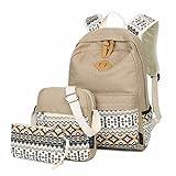 LABABE Upgraded Canvas Backpack Lightweight Casual Shoulder School Bag Daypack Laptop Bag for Girls