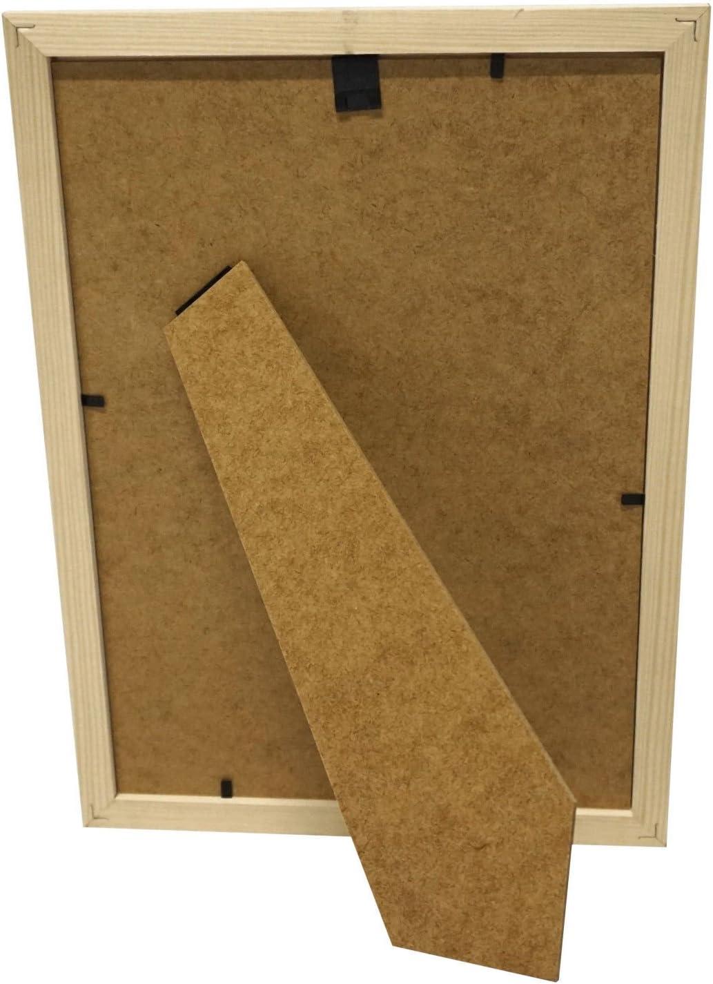 Artepoint Holz Bilderrahmen Natur von 9x13 bis 50x70 Querformat und Hochformat zum Aufh/ängen und Aufstellen Rahmen KIEFERNHOLZ Farbe Rosa Format 20x30