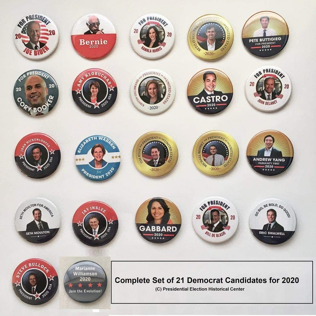 2020 Democrat Candidate Collector/'s Set #2 of 23 DEMOCRAT-23-ALL-SET2