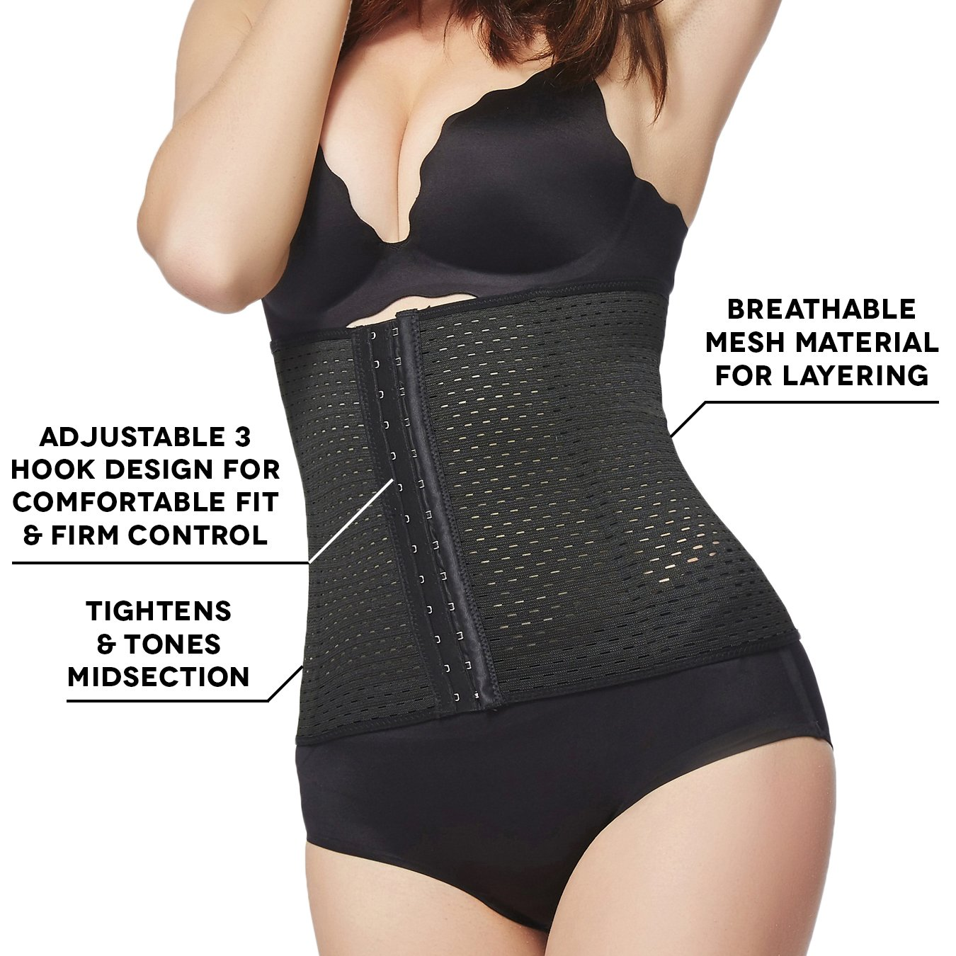 e990be38f7 Amazon.com  Robert Matthew Haute Womens Shapewear Underbust High Waist  Cincher Body Shaper  Clothing