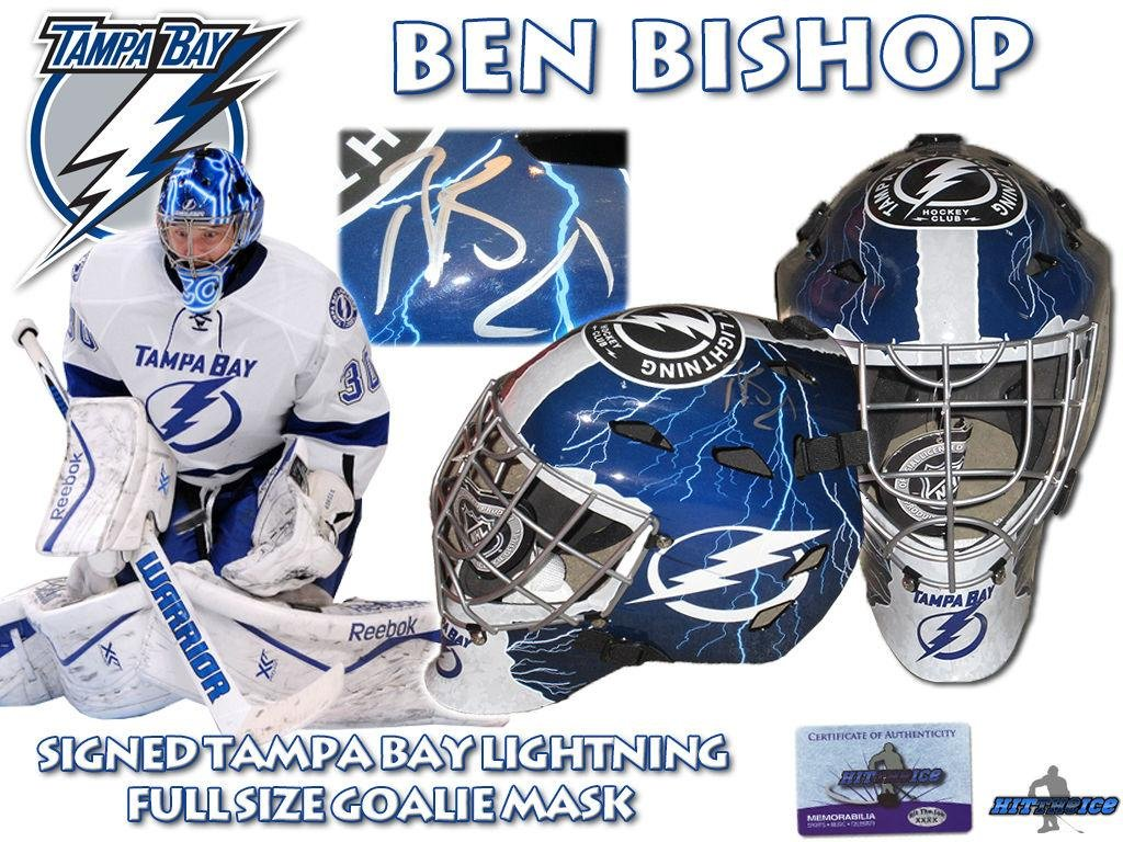Amazon.com  BEN BISHOP Signed TAMPA BAY LIGHTNING Full Size GOALIE MASK  w COA HOLOGRAM - Autographed NHL Helmets and Masks  Sports Collectibles c07e2f876