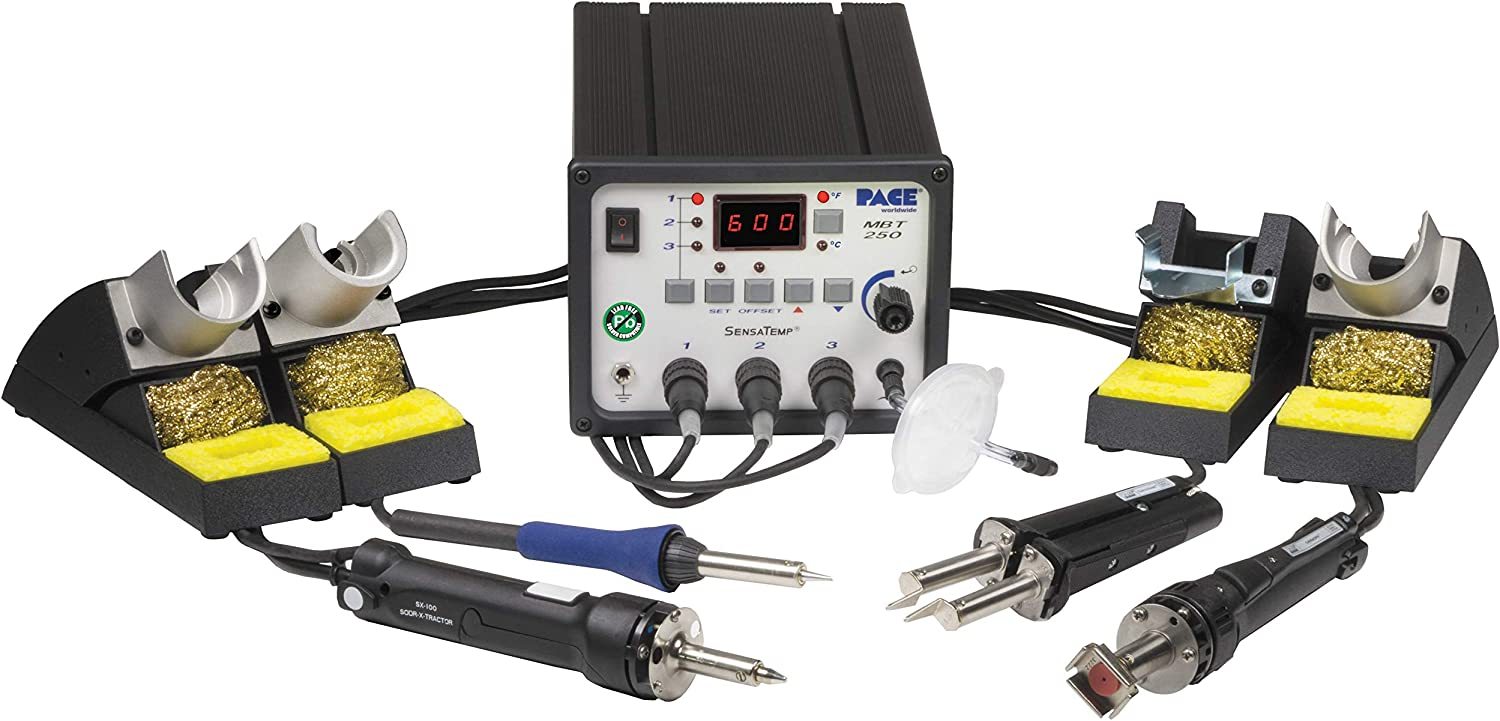 Pace SX-100 Sodr-X-Tractor Desoldering Iron SensaTemp Handpiece and Stand