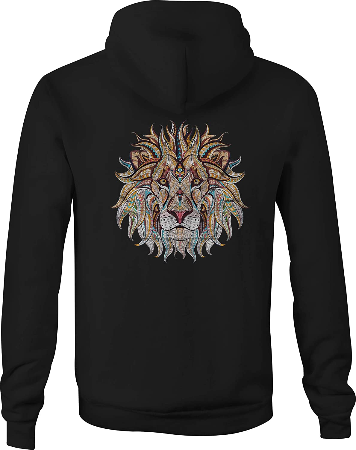 Zip Up Hoodie African Lion Mosaic Hooded Sweatshirt for Men