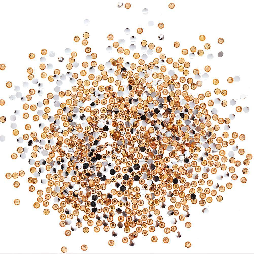 Febelle - Lote de 1000 unidades de 3 mm para decoración de uñas, diseño de piedras de estrás, joyería de joyería, herramienta de belleza y purpurina
