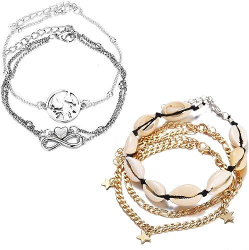 Ankle bracelet pearl chain starfish summer jewelry starfish bracelet