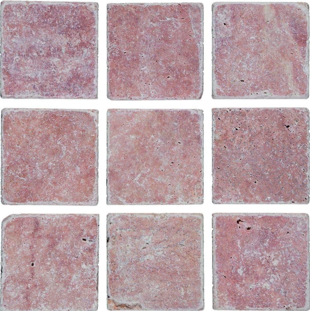 Carrelage en pierre naturelle rouge Pour toilettes murales Avec plaque mosa/ïque