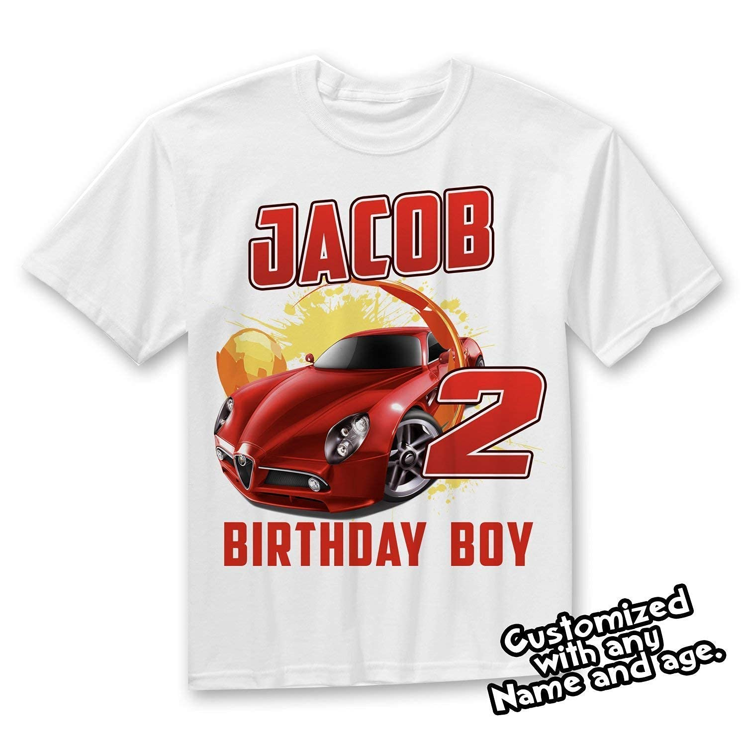 Boys Nascar Birthday Shirt Checkered Flag Race Car Birthday Race Track Personalized Shirt Kids Birthday Racing
