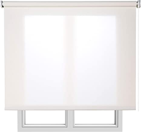 Stores screen Estores Basic estores para ventana persianas enrollables para el interior. 90x180cm Blanco