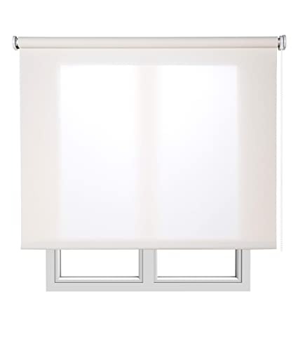 Estores Basic, Stores screen, Blanco, 105x250cm, estores plegable, persianas enrollables para