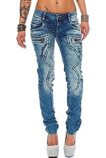 3c7a5f331c0 Cipo   Baxx Damen Jeans Hose Hüftjeans Slim Fit Stretch  Amazon.de ...