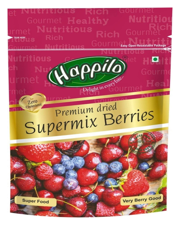Happilo Premium International Supermix Berries, 200g (Pack of 2)