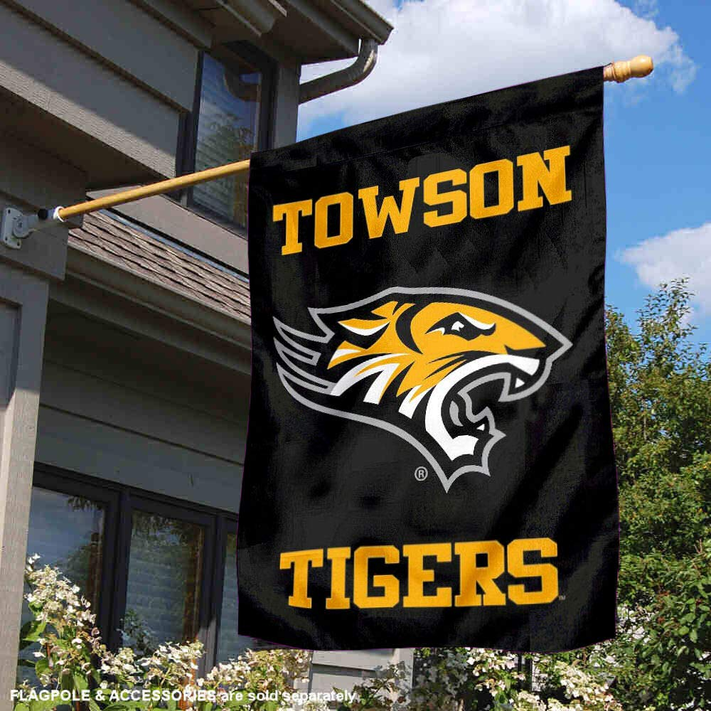Towson Tigers Wordmark Double Sided House Flag College Flags and Banners Co