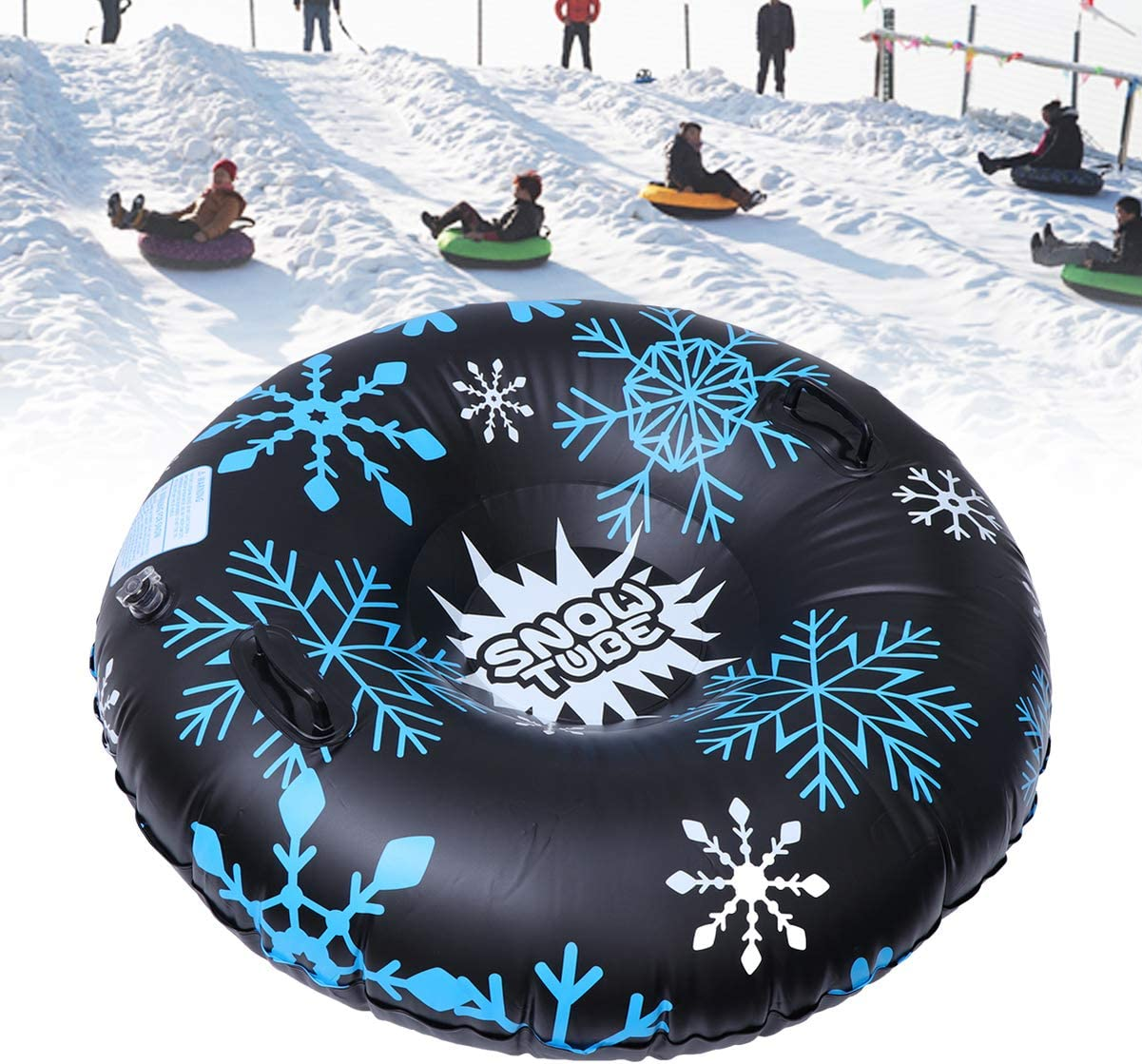 Flexible Flyer Inflatable Snow Tube 1-2 Person Double Sled for Kids /& Adults Sledding