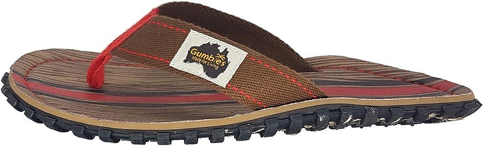 Gumbies Islander Mens Canvas Flip Flops Woody