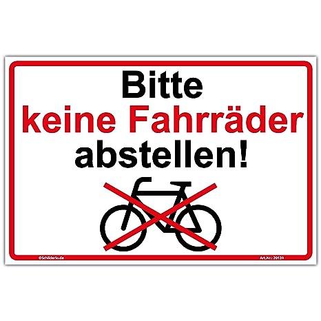 Das anlehnen und Parken von Fahrrädern und Motorrädern ist verboten Schilder!