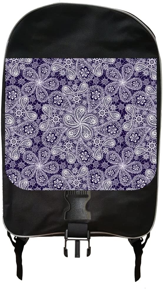 White and Purple Lace PRINT Design Backpack