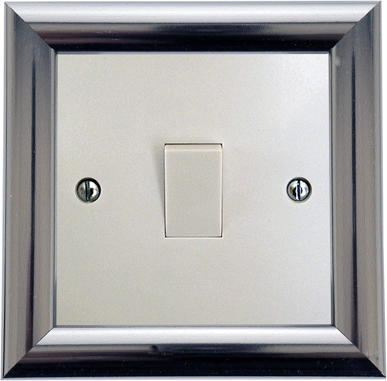 Square Chrome Double Surround Double Light Switch Single Light Switch with LED Support Frame Sub Frames