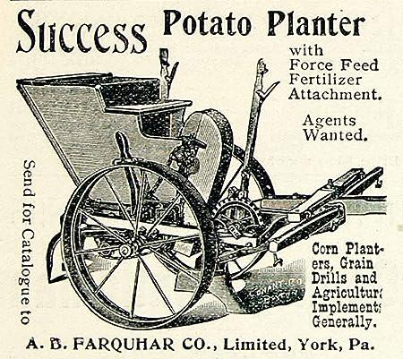 1895 Ad Potato Planter Ab Farquhar Force Feed Fertilizer Attachment