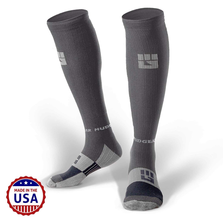 1 Pair Mens /& Womens Running Hiking Trail MudGear Premium Compression Socks