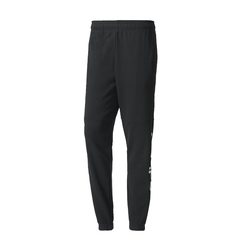 Adidas BQ9090 Pantaloni da Tuta Uomo, Nero Bianco, XL L