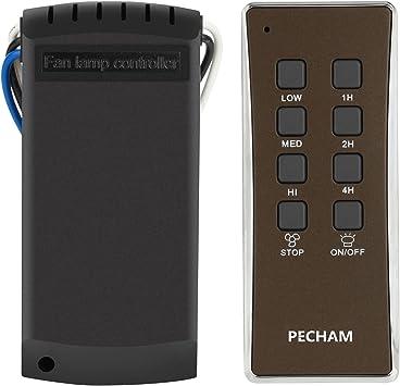 PECHAM Kit de ventilador de techo lámpara de mando a distancia universal: Amazon.es: Bricolaje y herramientas