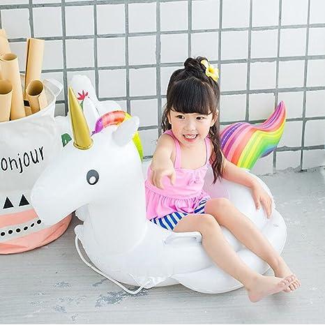 Lady of Luck Flotador Unicornio Bebés, Unicornio Anillo De Natación El Bebé Apto para Jugar