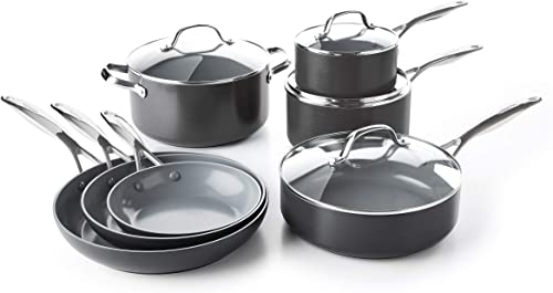 GreenPan Valencia Pro Hard Anodized Ceramic Cookware Pots and Pans Set