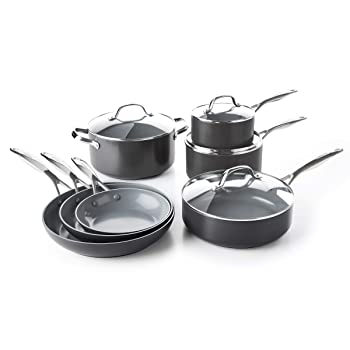 GreenPan Valencia Pro 100% Toxin-Free Healthy Ceramic Non-stick Metal Cookware Set