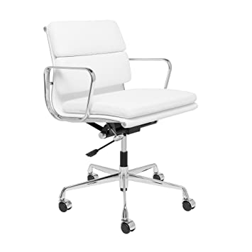 premier replica management chair soft pad white eames herman miller aeron office used brown