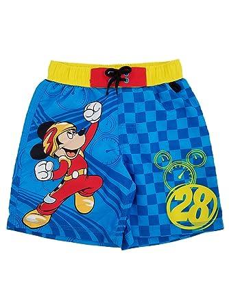 ae8a8d8b662bb Amazon.com: Disney Little Boys Mickey Mouse Trunks, 3, Blue: Clothing