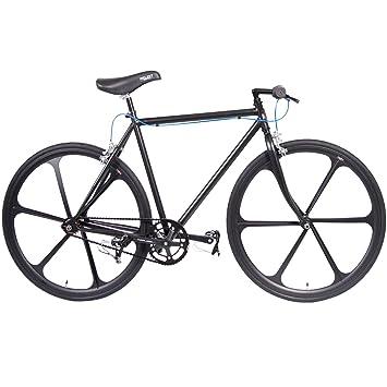 Projekt Fixie Bike 700c single speed track bicycle with flip flop hub (Black)