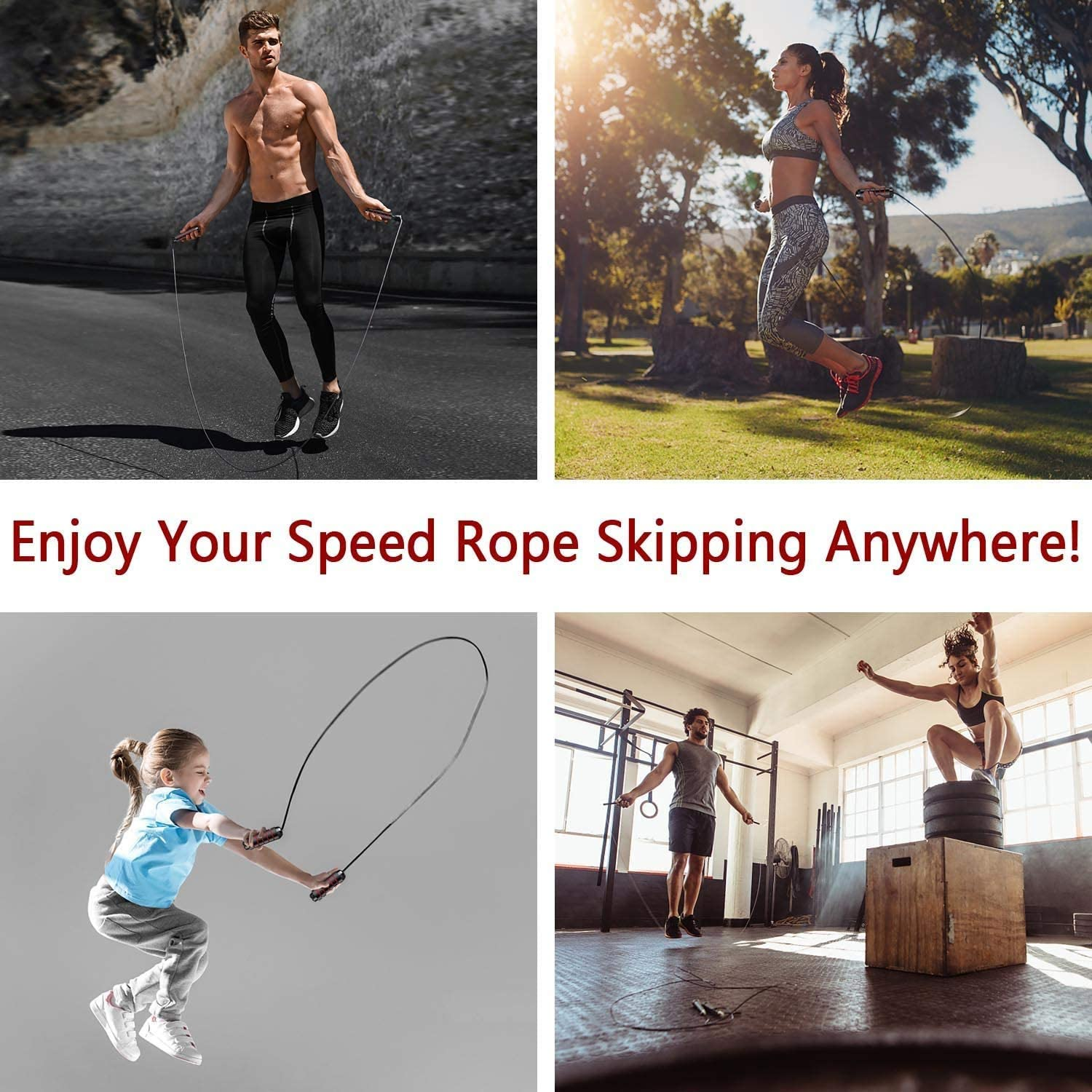 Free Wrist Bracer MOLLY FRASER Jump Rope Women and Kids Tangle-Free Adjustable Jumping Ropes Rapid Speed Skipping Rope Cable with Memory Foam Handles for Exercise and Fitness for Men