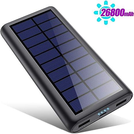 SWEYE Cargador Solar 26800mAh,【2020 Nueva Versión】Batería ...