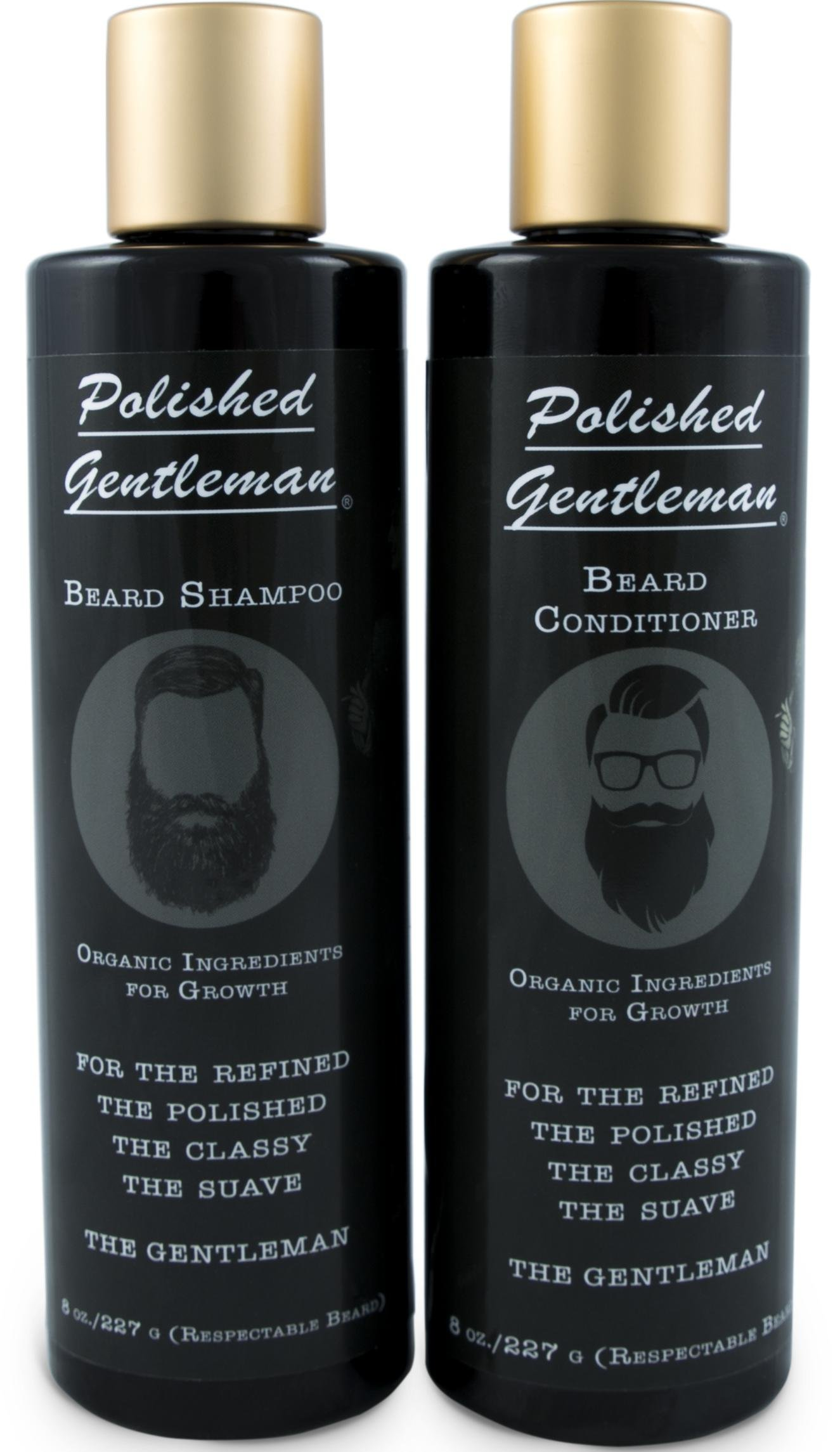 Beard Growth and Thickening Shampoo and Conditioner Set - Beard Care With Organic Beard Oil - For Best Beard Look - For Facial Hair Growth - Beard Wash for Grooming - Gift For Men - Made by USA