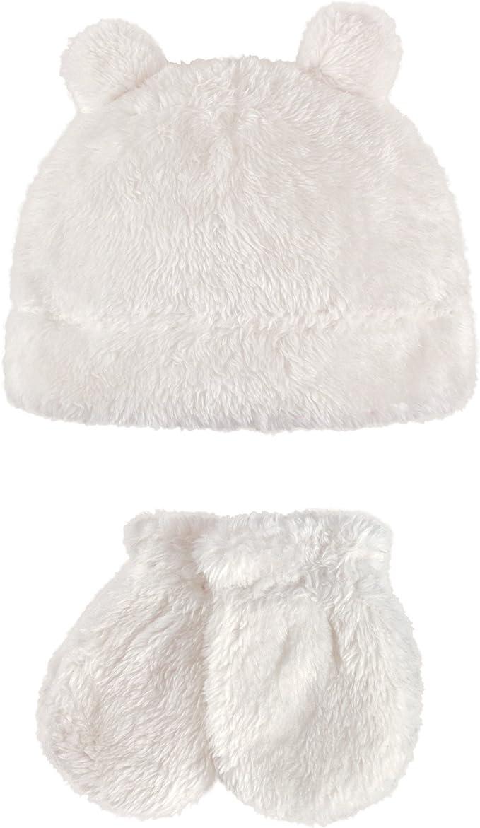 Hudson Baby Baby Girls Fleece Trapper Hat and Mitten Set