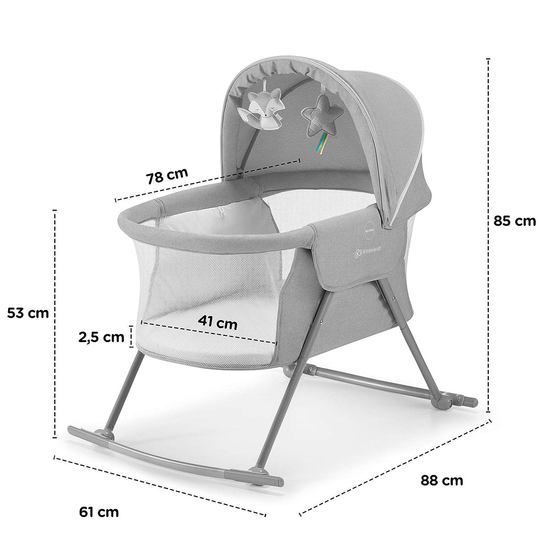 Einfach Transport Kinderkraft Kinderbett 3 in 1 LOVI Kinderreisebett Zusammenklappbar Moskitonetz,von Geburt bis 9 kg Beige Tasche mit Zubeh/ör Baby Wippe Babywiege Stubenwagen