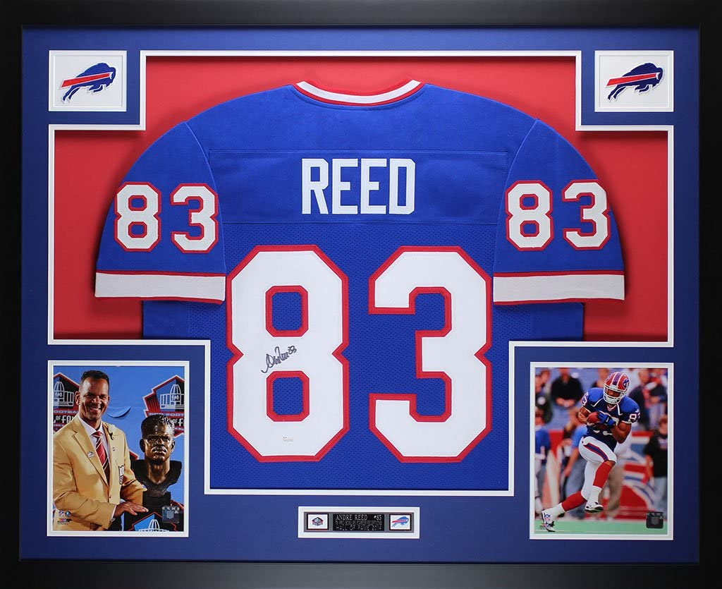 Amazon.com: Andre Reed Autographed Blue Jersey - Beautifully ...