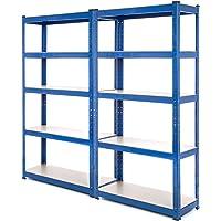 2Bay estantería de acero resistente garaje estantería 150kg